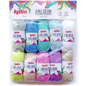 10 pelotes amigurumi couleurs pastel katia 8261