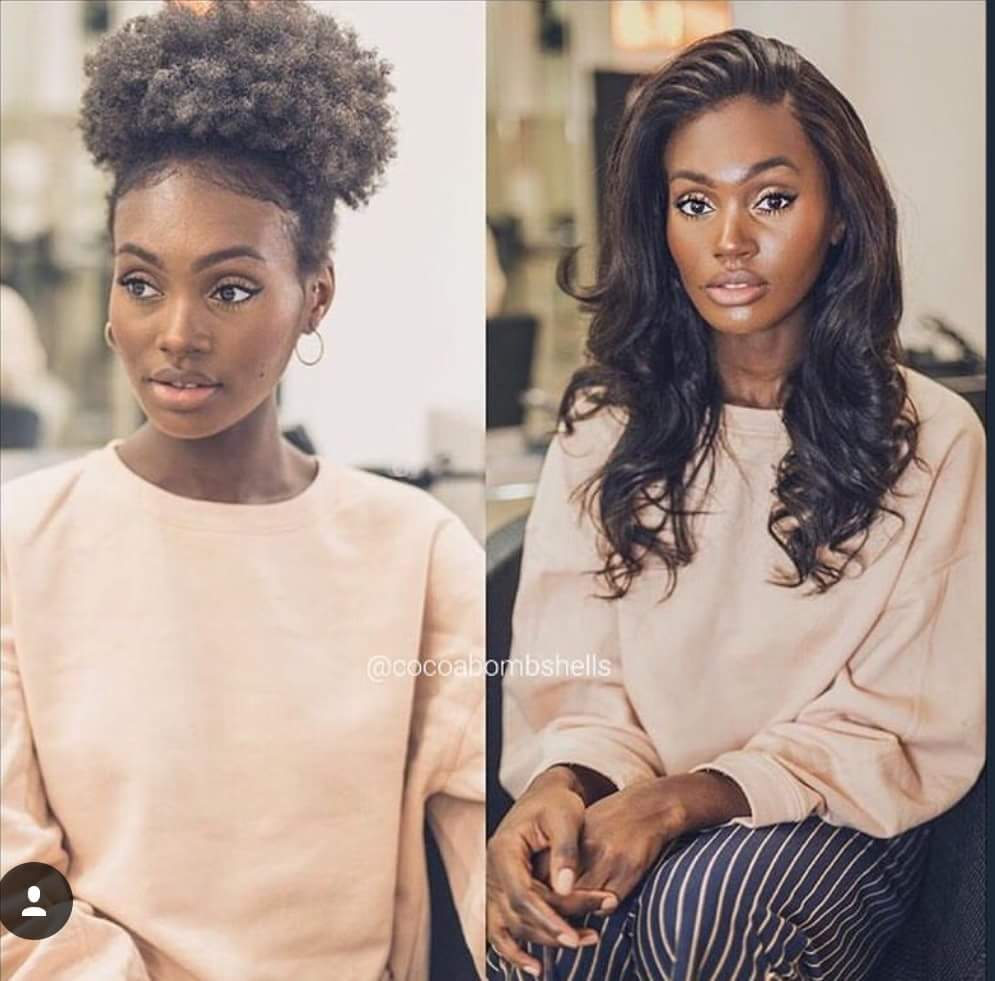 Cheveux naturels afro