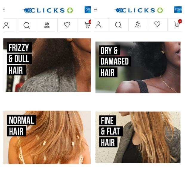 Clicks frizzy normal hair south africa