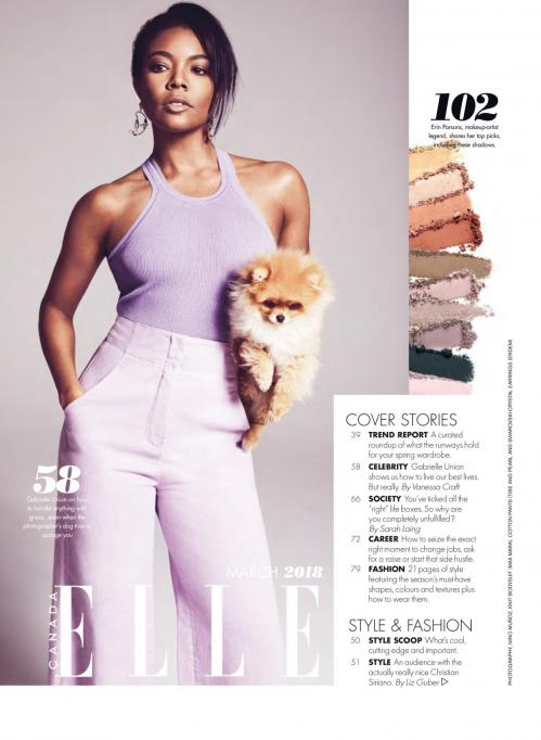 Gabrielle union in elle magazine canada march 2018 issue 4