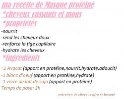 Ma recette de masque proteine 2