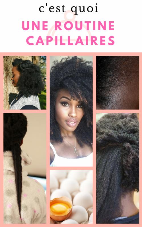 Routine capillaire cheveux