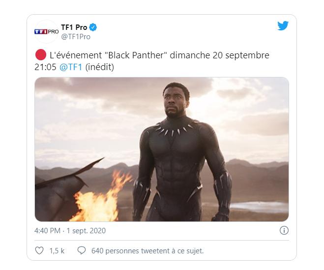 BLACK PANTHER SERA DIFFUSE A LA TELE FRANCAISE